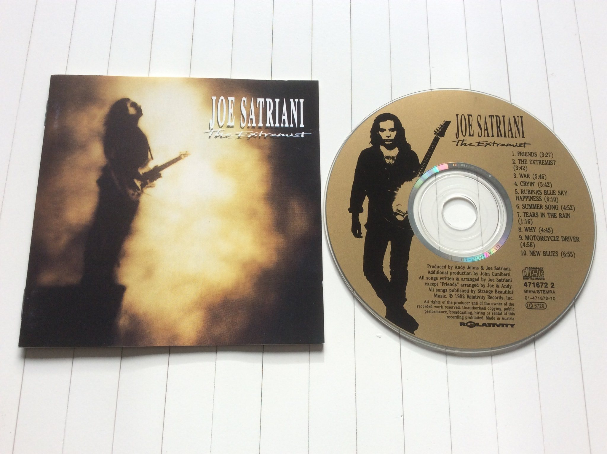 "Joe Satriani CD "" the extremist """