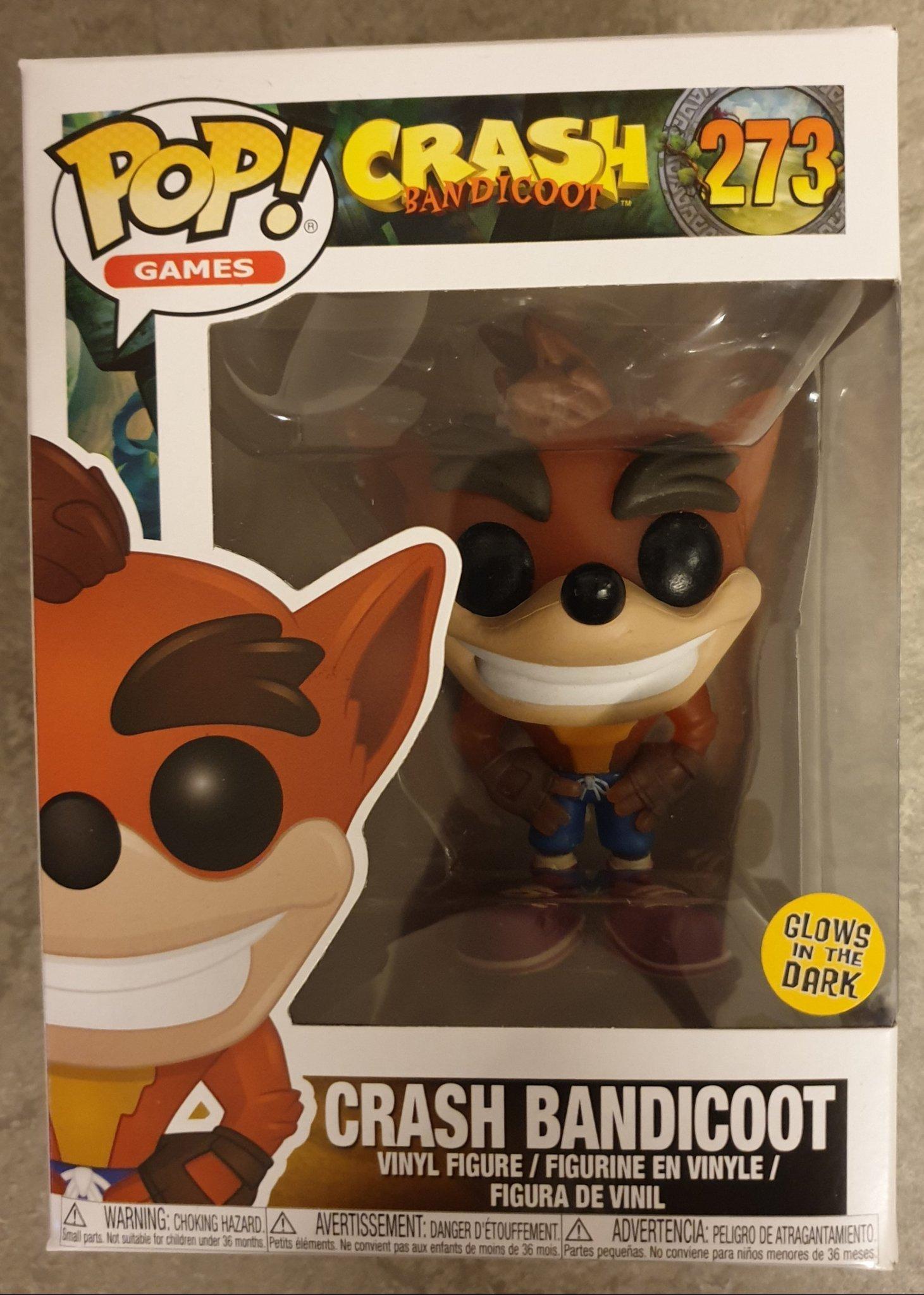Games-Crash Bandicoot #273 Crash Bandicoot Pop glow in the dark