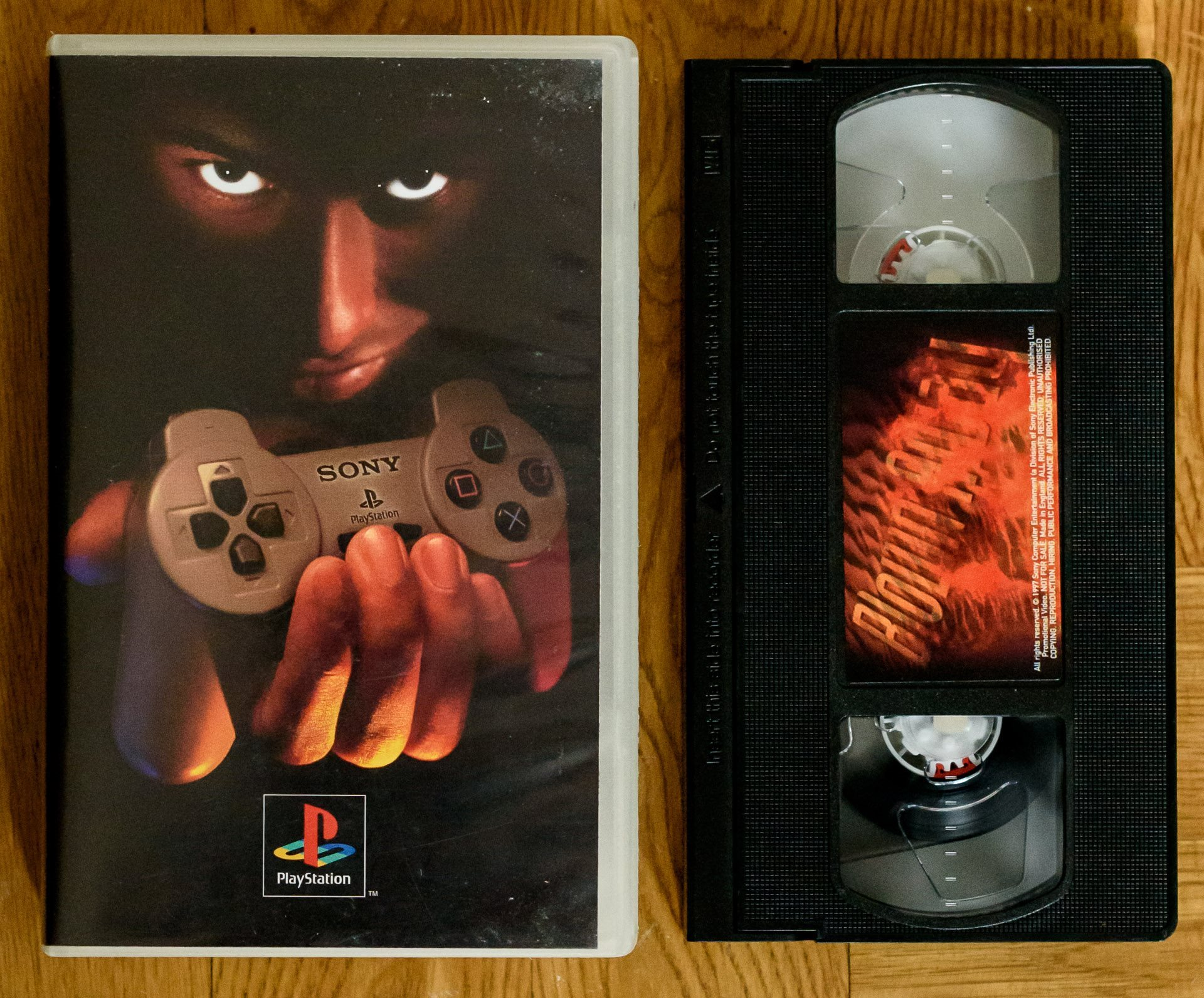 Blown Away - Playstation PS1 VHS Reklam England - 200?