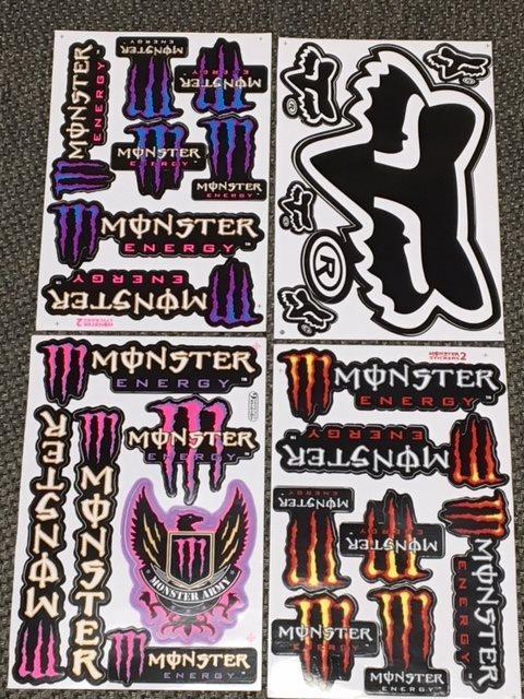 Monster dekaler klistermärken 4 st ark (326653630) ᐈ Köp på Tradera ccb12558ab954