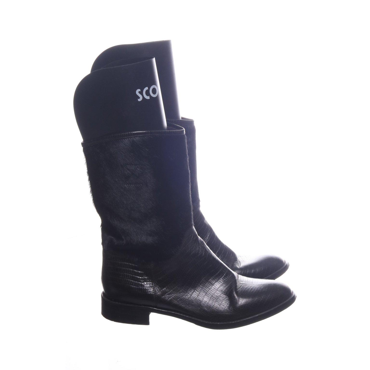 Boots, Strl: 41, Svart, SkinnPäls