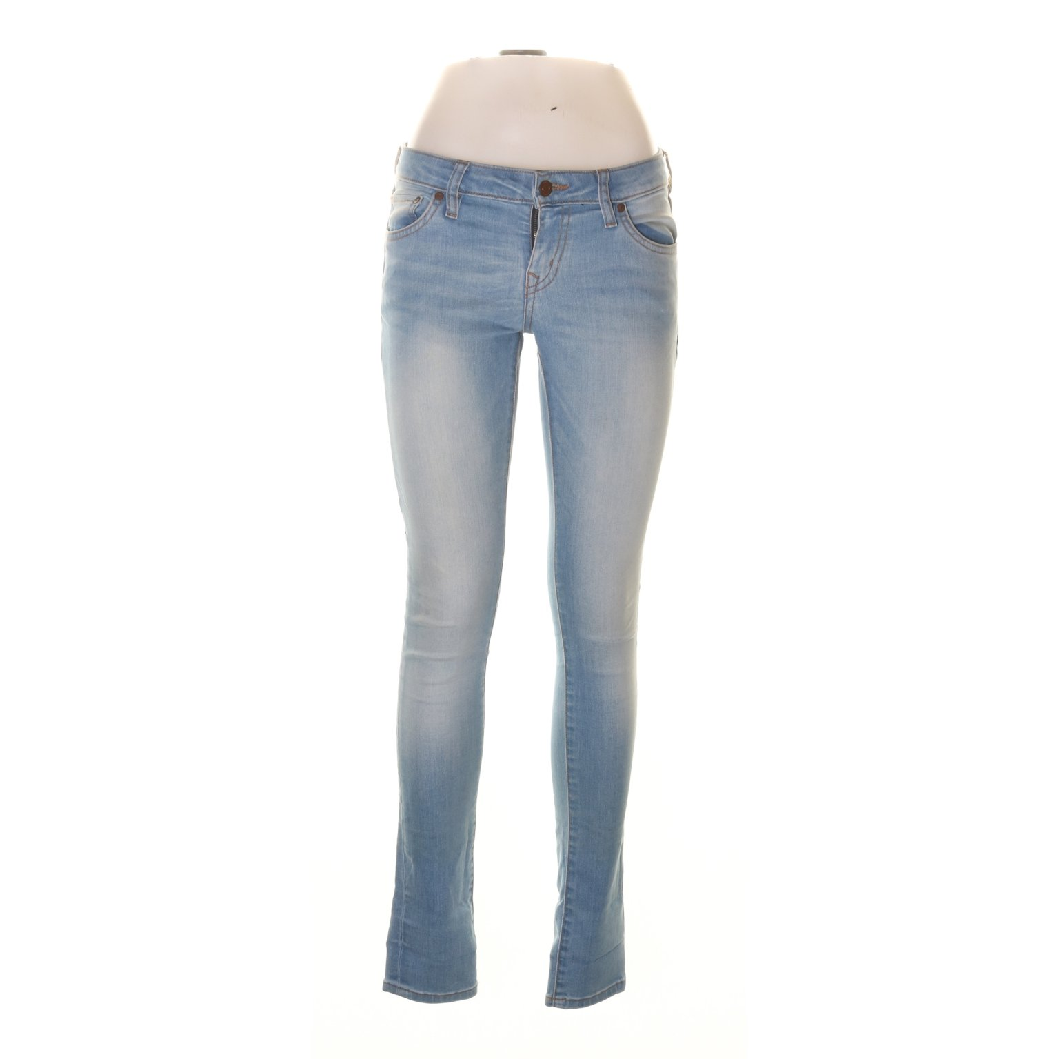 Crocker, Jeans, Strl: 29/32, Hit low, Blå, Bomull/Polyester/Elastan