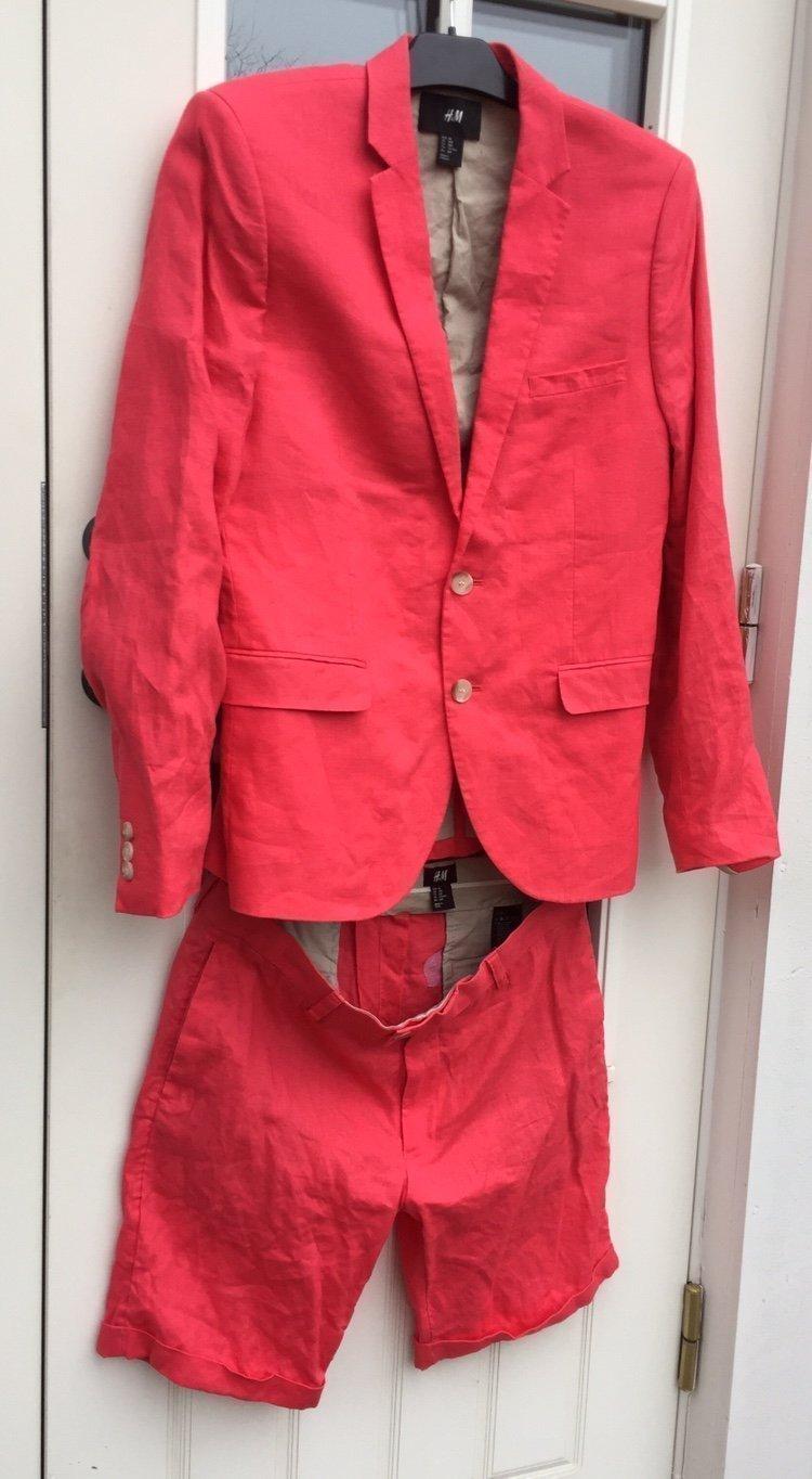 Rosa linnekavaj med shorts stl 48 Herr (394220569) ᐈ Köp på