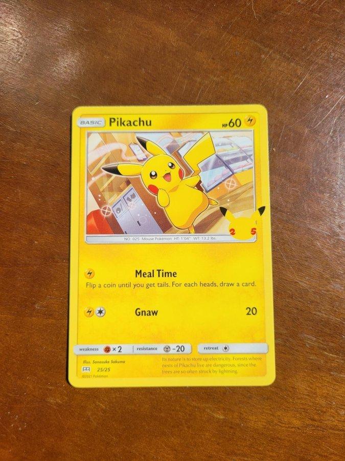McDonalds 2021 25th anniversary POKEMON sealed card 10 packs PIKACHU HOLOGRAM?