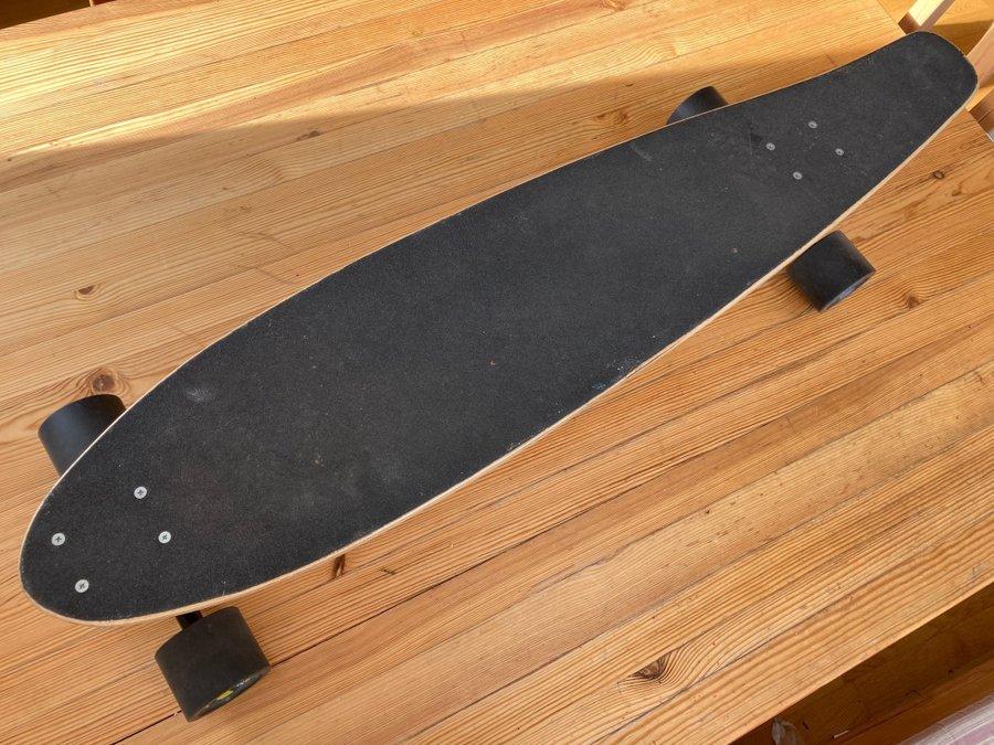 Auveach Lot de 4 roues de skateboard Longboard 60 mm x 45 mm en polyur/éthane /à bord long transparent multicolore /à haute r/ésistance