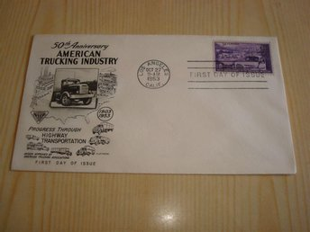 American Trucking Industry 50th Anniversary 1953 USA förstadagsbrev