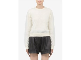 Acne Lia Tulle Off White sweater tröja college tyll strl S small - Bandhagen - Acne Lia Tulle Off White sweater tröja college tyll strl S small - Bandhagen