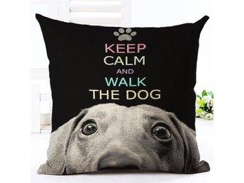 Keep Calm Walk The Dog Kuddfodral Soffkudde Kudde Prydnadskudde Örngott Fodral - Samut Prakan - Keep Calm Walk The Dog Kuddfodral Soffkudde Kudde Prydnadskudde Örngott Fodral - Samut Prakan