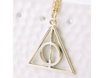 Halsband Harry Potter Deathly Hallows Triangle - Guld