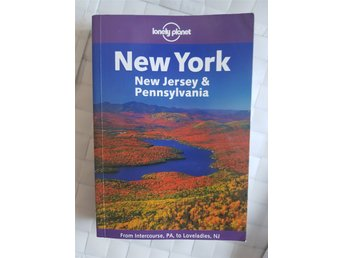 "Bok: Lonely planet ""New York New Jersey Pennsylvania"". Resehandbok på engelska."