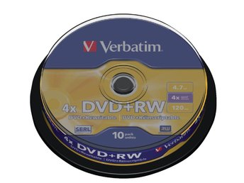 DVD+RW Verbatim 4.7GB,10p Spindle, 4X