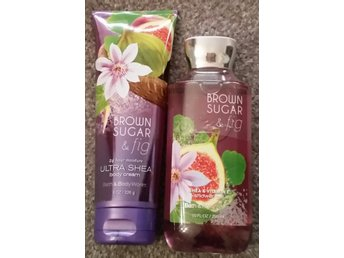 BROWN SUGAR & FIG Bath & Body Works Body Cream 226ml & Shower Gel 295ml USA doft