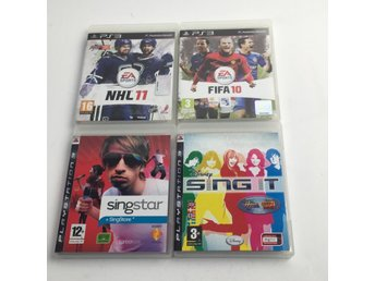 TV-Spel, 4st, PS3, NHL 11, Singstar 07 mfl.