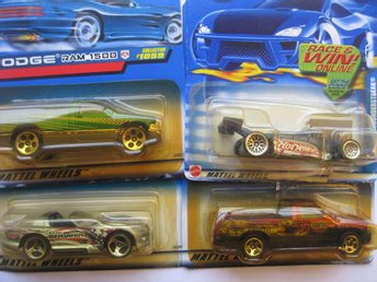 Leksaker Hot Wheels Cars Bilar Mattel - 4st Hot Wheels HWB 107