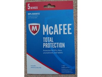 McAfee Total Protection 2018- 5 Enheter, 1 Års Licens - PC / Mac / ANDROID / iOS