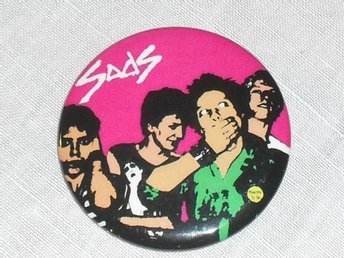 SODS - STOR Badge / Pin / Knapp (Punk, Sort Sol, Chelsea, Cortinas, KBD, 1977,)