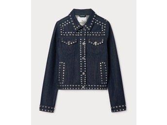 Jeansjacka jacka jeans nitar (410755944) ᐈ Köp på Tradera