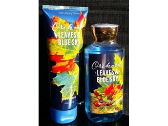 Bath & Body Works ORCHARD LEAVES & BLUE SKY Body Cream 226ml & Shower Gel 295ml