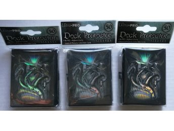 Deck Protector Sleeves Black Diamond Dragon 50ct - 3 paket