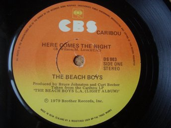 Beach Boys Nya Zeeland Press På Singeln Here Comes The Night Utgiven På CBS 1978