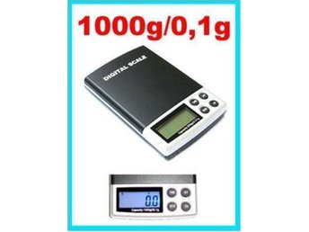 Digital LCD Våg Pocket scale 1000g/0.1grams noggrannhet