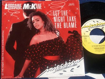 "LORRAINE McKANE - LET THE NIGHT TAKE THE BLAME 7"" 1984"