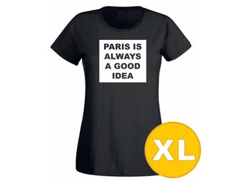 T-shirt Paris Is Always A Good Idea Svart Dam tshirt XL