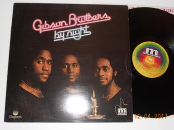 GIBSON BROTHERS - By night, LP Mariann Sverige '77