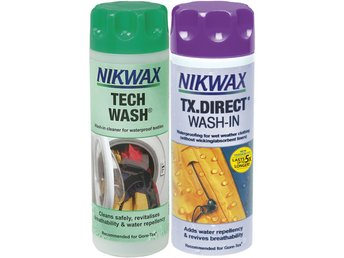 NIKWAX TECH WASH 300 ml + TX DIRECT WASH-IN 300 ml tvätt impregnering GORE-TEX