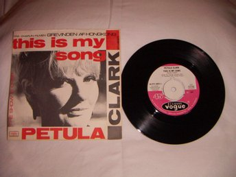 vinyl 45 rpm Petula Clark - This is my song + 1
