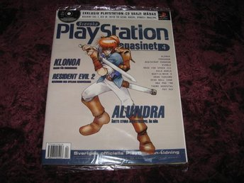 PLAYSTATION MAG Nr4 NY MED CD 4/1998 ALUNDRA RETRO