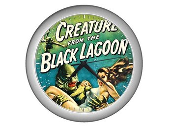 Creature From The Black Lagoon 1954 Väggklocka Klocka Silver