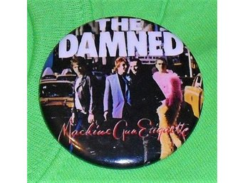 DAMNED - Stor Button-Badge / Pin / Knapp (Punk, 1980, Pistols, Clash, London,)