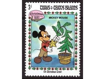 Disney, Turks and Caicos, 3-cent Mickey Mouse