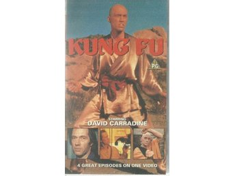 Kung Fu - 4 episodes - David Carradine - Ej text - Vhs