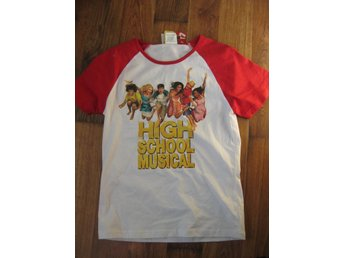 T-Shirt Tröja Barn - Disney High School Musical Vit Röd 9-10 år THN