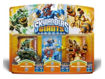 Skylanders Giants Triple Pack - Prism Break, Lightning Rod, Drill Sergeant