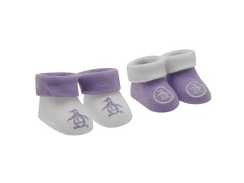 Penguin 129 2 Pack Baby Girl's Booties • 0-6 mån