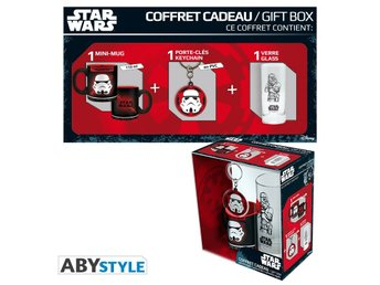 Gift Set - Glas, nyckelring & mugg - Star Wars - Trooper