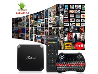 Smart TV Box Android 7.1 Quad Core X96 Netflix IPTV Kodi EU Plug