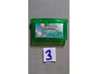 Pokemon Emerald Gameboy Advance spel (3)