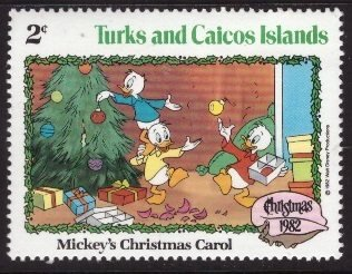 Disney, Turks and Caicos, 2-cent Huey, Dewey, and Louie