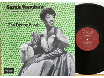 "SARAH VAUGHAN, THE EARLY YEARS, LP. ""THE DIVINE SARAH"". US 1980."