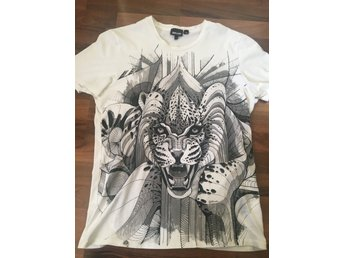 Just Cavalli t-shirt vit tiger (L)