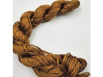 26 m Nylontråd 1 mm - Brun - För Makrame Armband Halsband mm - DIY / Pyssel - Nasugbu - 26 m Nylontråd 1 mm - Brun - För Makrame Armband Halsband mm - DIY / Pyssel - Nasugbu
