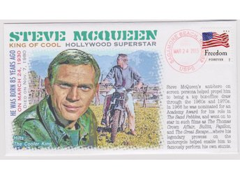 85th Anniversary Birth of Actor Steve McQueen FDC