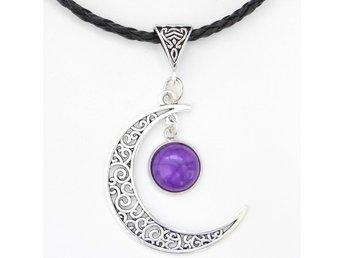 Lila Måne Halsband / Purple Moon Necklace
