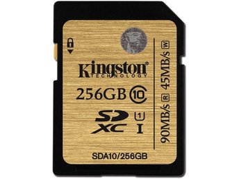 Kingston 256GB SDXC Class 10 UHS-I 90R/45W Flash Card