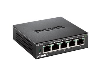 D-Link 5-port 10/100 Metal Housing Desktop Switch