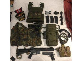CQB Airsoft kit. Nyskick. Inc King Arms OA-15 M8 & Colt 1911. Snabb affär. - Växjö - Obs: Vill sälja snabbt, smidigt och billigt. Kontakta mig! Hej! Jag säljer mitt Airsoft kit för att jag inte har tid att spela (Universitetet tar för mycket av min tid!) Detta är ett kit som är i närmare perfekt skick (Med undantag från  - Växjö